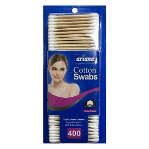 Ariana Cotton Swabs 400ct Wood Stick