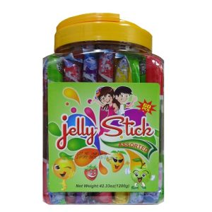 Jelly Stick 60ct Asst Jar W-Handle
