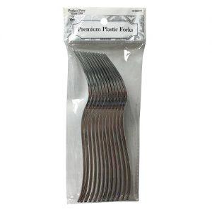 P.P Silver Forks 12ct Premium Plastic