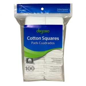 Degasa Cotton Squares 100ct