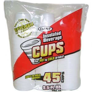 Dart Foam Cups 8.5oz 45ct