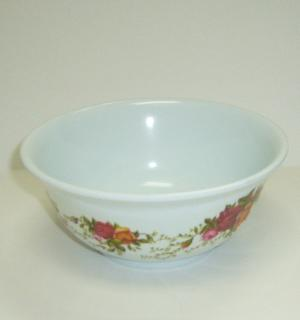 Melamine Bowl 5in Roses Design