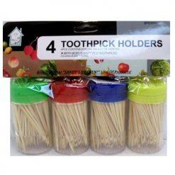 Toothpicks W-Dispenser 4pk
