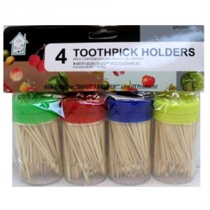 Toothpicks W-Dispenser 4pk