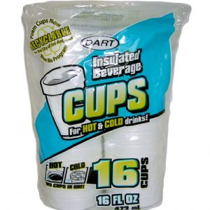 Dart Foam Cups 16oz 16ct