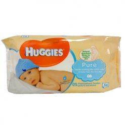 Huggies Baby Wipes 56ct Pure