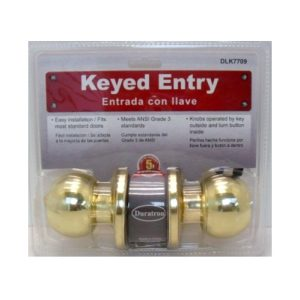 Door Entrance Lock Set Gold Ball