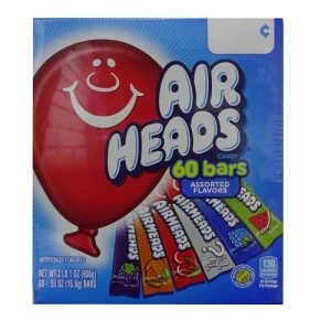 Airheads Singles Asst Gravity Feed .55oz