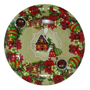 X-Mas Round Tray 13in