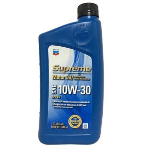Chevron Supreme Motor Oil 10W-30 1qt