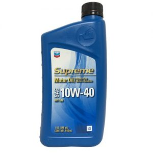 Chevron Supreme Motor Oil 10W-40 1qt