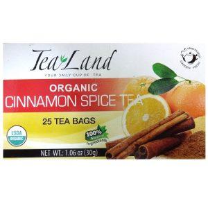 Tea Land Organic Cinnamon Spice Tea 25pc