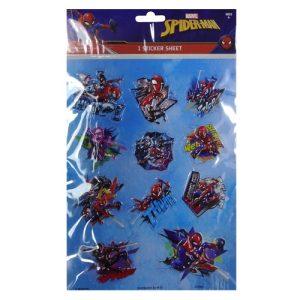 Spiderman 3D Sticker Sheets Asst