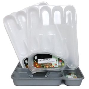 Cutlery Tray Plastic Asst Clrs