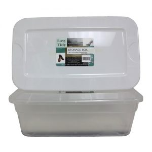 Shoe Box Clear W-Asst Clr Lids