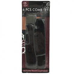 Comb Set 6pc Black