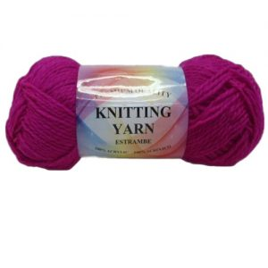 Knitting Yarn Fuchsia 100% Acrylic