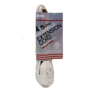 Extension Cord 4ft White UL