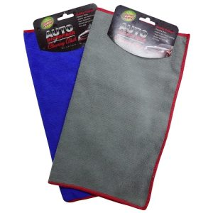 Auto Microfiber Cleaning Cloth Asst Clrs