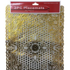 Placemats 2pc 11.8 X 17.7in Gold Lace