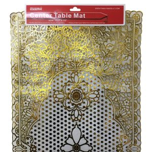 Center Table Mat 16 X 33 Gold Lace