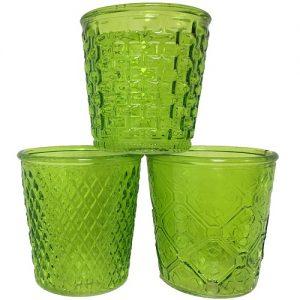 Glass Planters Green