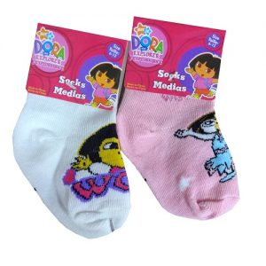 Dora The Explorer Socks Sml 1pk Asst