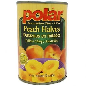 Polar Peach Halves Lght Syrup 15oz