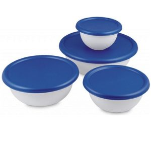 Sterilite Bowl Set W-Lids 8pc