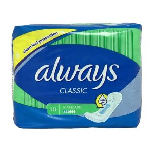 Always Classic Maxi Pads 10ct Standard