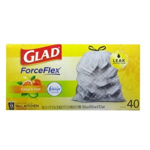 Glad Tall Kitchen Bags 40ct W-Febreze