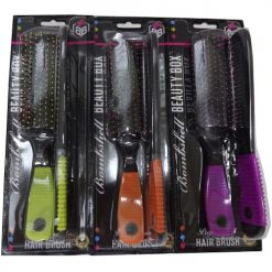 Flat Hairbrush AND Comb Asst Clrs