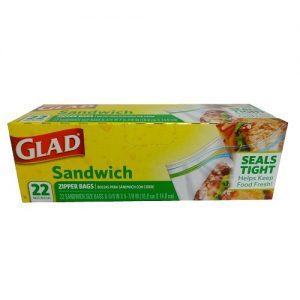 Glad Sandwich Zipper Bags 22ct