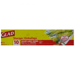 Glad Storage Bags 10ct 1 Gl