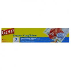 Glad Freezer Storage Bags 7ct 1 Gallon
