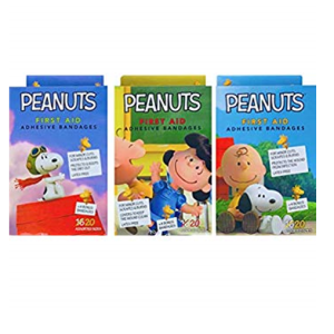 Peanuts First Aid Adhesive Bandages Asst