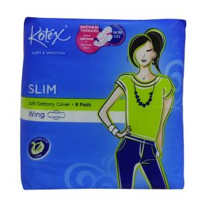 Kotex Maxi Pads 8ct Slim W-Wings