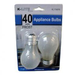 K-Lite Appliance Bulbs 2pc 40wt Frost