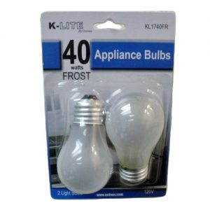 K-Lite Appliance Bulbs 2pc 40wt Frost