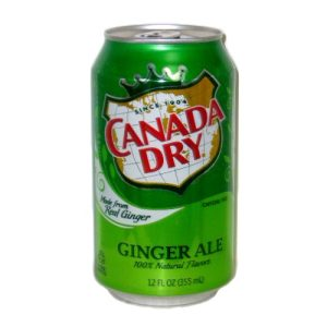 Canada Dry Ginger Ale Soda 12oz Can