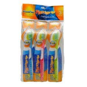 Toothbrushes 3pk Flexi Grip Fresh Plus