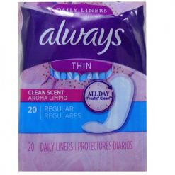 Always Thin Panty Liners Reg 20ct