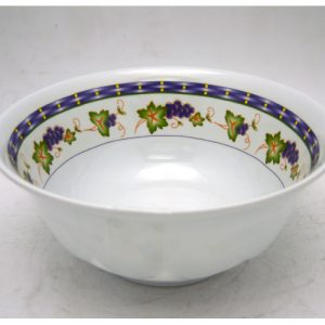 Melamine Bowl 6in Grape Design