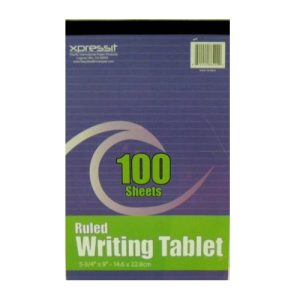 ***Writing Tablet Ruled 5 3-4X9in Ruled