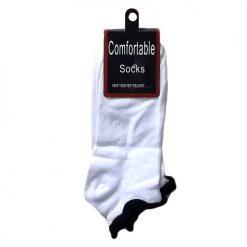***Socks Low Cut 9-11 White W-Black 2PK