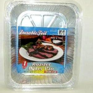 D. Foil Roaster Baker Pan W-Lid 1pc