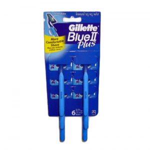 Gillette Blue II Ultra-Grip W-Aloe Card