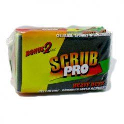 Scrub Rite Spnge With Scrubbers 2pk