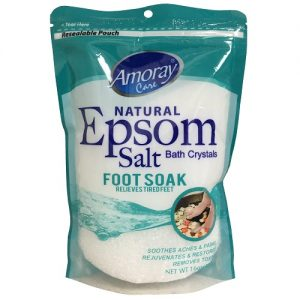 Amoray Epsom Salt Pouch Foot Soak 16oz