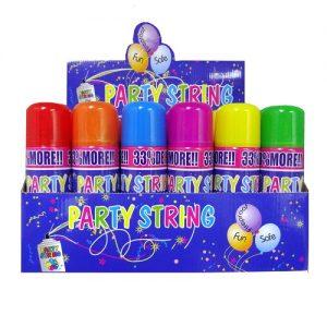 Party Streamer Spray 3oz Asst Clrs